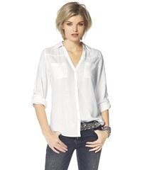 Laura Scott Damen Hemdbluse mit Brusttaschen weiß 32 (XS),34,36 (S),38,40 (M),42,44 (L),46,48 (XL),50