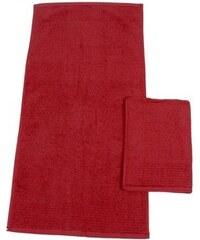 Handtücher Brillant feine Streifenbordüre Dyckhoff rot 2xHandtücher 50x100 cm