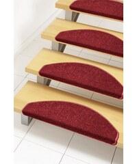 Stufenmatte Shashi einfarbig Kurzflor getuftet HANSE HOME rot 21 (2er-Set),22 (15er-Set)