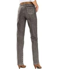 COLLECTION L. Damen Collection L. Jeans mit festem Bund und Gürtelschlaufen braun 36,38,40,42,44,46,48,50,52,54