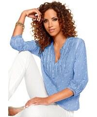 Damen Classic Inspirationen Bluse mit dezentem Floral-Muster CLASSIC INSPIRATIONEN blau 36,38,40,42,44,46,48,50,52,54