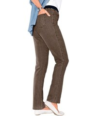 CLASSIC BASICS Damen Classic Basics Hose mit hohem Tragekomfort braun 36,38,40,42,44,46,48,50,52,54