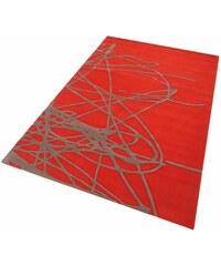 Esprit Home Teppich Brainstrom handgearbeitet Wolle orange 10 (B/L: 90x160 cm),2 (B/L: 70x140 cm),3 (B/L: 120x180 cm),4 (B/L: 170x240 cm),9 (B/L: 140x200 cm)