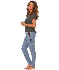 Schmale Homewearhose mit karierten Tascheninlets H.I.S blau 32/34,36/38,40/42,44/46
