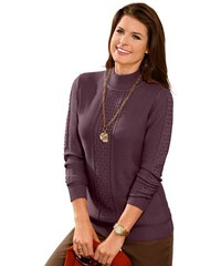 COLLECTION L. Damen Collection L. Pullover mit anschmiegsamem Stehkragen lila 38,40,42,44,46,48,50,52,54