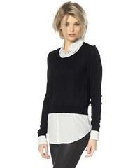 Laura Scott Damen 2-in-1-Pullover schwarz-weiss 32,34,38,40,42,44