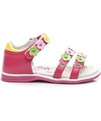 AMERICAN CLUB Krásné růžové sandálky s květinkami