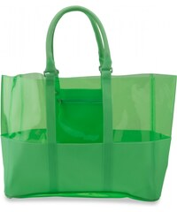 Crocs Classic Translucent Beach Tote Green