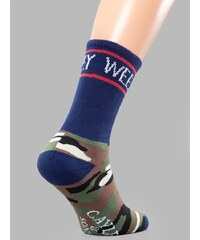 Cayler & Sons Weezy Socks Navy Woodland Camo White
