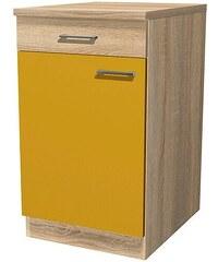 Küchenunterschrank »Rio«, Breite 50 cm, inkl. 2. Frontensatz in weiß gratis dazu