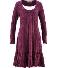 bpc bonprix collection Langärmliges 2-in-1-Kleid mit Crash-Effekt langarm in lila von bonprix