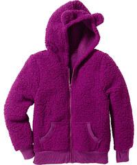 bpc bonprix collection Gilet en synthétique imitation fourrure peluche violet manches longues enfant - bonprix