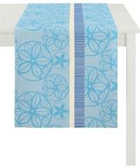 Tischläufer BELLA Loft Jacquard Ornamente APELT blau 48x140 cm