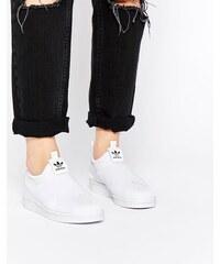 adidas Originals - Superstar - Weiße, schnürlose Turnschuhe - Weiß