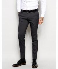 ASOS - Pantalon habillé super skinny - Anthracite - Gris