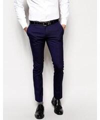 ASOS - Pantalon élégant super skinny - Bleu marine - Bleu marine