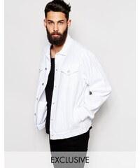 Reclaimed Vintage - Veste oversize en tweed - Blanc