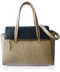 Anna Smith Béžová elegantní kabelka s ornamentem