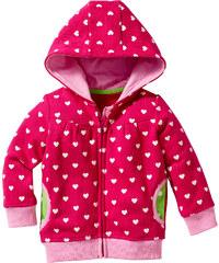bpc bonprix collection Gilet sweat bébé à capuche en coton bio fuchsia manches longues enfant - bonprix
