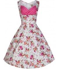 Lindy Bop retro dámské šaty Ophelia ANTIQUE ROSE velikosti: 36