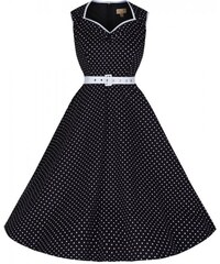 Retro šaty Lindy Bop Xandra Black Polka