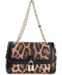 Dolce & Gabbana 'Dolce' Leopard Print Shoulder Bag