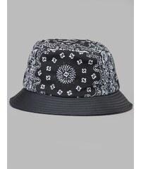 Flexfit Bandana Leather Imitation Brim Bucket Hat 5003BL Black