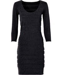 BODYFLIRT Robe en maille noir manches 3/4 femme - bonprix