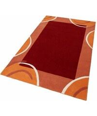 Teppich exklusiv Bellary handgearbeiteter Konturenschnitt handgetuftet reine Schurwolle THEKO EXKLUSIV orange 1 (B/L: 60x90 cm),2 (B/L: 70x140 cm),3 (B/L: 120x180 cm),4 (B/L: 160x230 cm),6 (B/L: 200x2