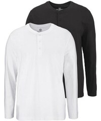 Man s World Langarmshirt (Packung 2 tlg.) MAN'S WORLD weiß L (52/54),M (48/50),S (44/46),XL (56/58),XXL (60/62),XXXL (64/66)