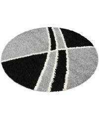 MY HOME Hochflor-Teppich rund Alessandria Höhe 30 mm gewebt grau 10 (Ø 190 cm),9 (Ø 140 cm)