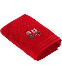 Vossen Handtücher Kiddy Katze mit tollem Tiermotiv rot 2xHandtücher 50x100 cm