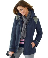 Damen Collection L. Jacke mit abnehmbarer Kapuze COLLECTION L. blau 36,38,40,42,44,46,48,50,52,54