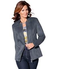 Damen Classic Blazer mit Teilungsnähten und Ziersteppung CLASSIC blau 36,38,40,42,44,46,48,50,52,54