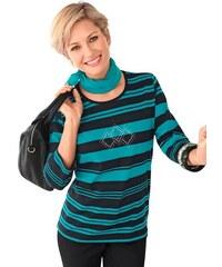 COLLECTION L. Damen Collection L. Shirt mit effektvollen Metallplättchen blau 36,38,40,42,44,46,48,50,52,54