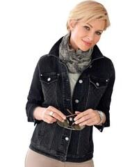 Damen Collection L. Jeansblazer mit modisch abgesteppten Partien im Vorderteil COLLECTION L. schwarz 19,20,21,22,23,24,25