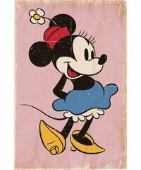 Deco Panel Minnie Mouse - retro 60/90 cm HOME AFFAIRE bunt