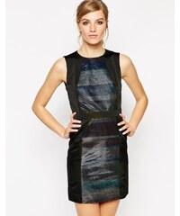 American Retro - Janis - Kleid mit Metallic-Streifen - Schwarz