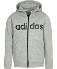adidas Performance ESSENTIALS Sweatjacke medium grey/black