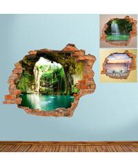 Lesara Sticker mural Crique paradisiaque en 3D
