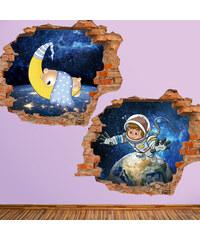 Lesara Sticker mural Univers pour enfant