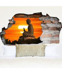 Lesara Vinyl-Wandsticker mit 3D-Effekt Buddha