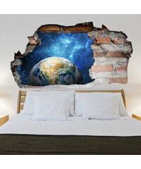 Lesara Sticker mural Univers effet 3D