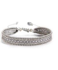 Mishky Bracelet Canal Silver Beige Grey
