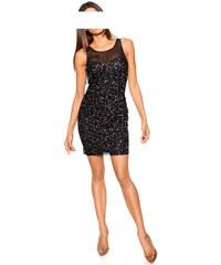 Carry Allen by Ella Singh Třpytivé šaty s flitry, pajetkové šaty, flitrové šaty 40 černá
