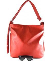 Velká červená kabelka na rameno Tania / Velké kabelky Marlen 2752