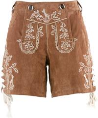 bpc bonprix collection Kurze Trachten-Lederhose mit Stickerei in braun für Damen von bonprix