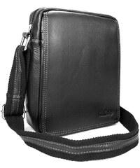 Sendi Design Pánská kožená taška přes rameno SendiDesign IG005 - černá