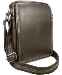 Sendi Design Pánská kožená taška přes rameno SendiDesign IG006 - hnědá