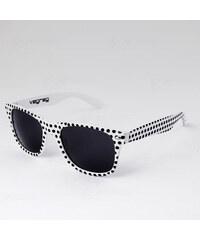 VeyRey Brýle Nerd Puntíky bílé